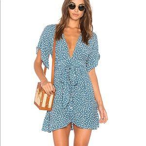 Faithfull the Brand Blue St. Lucia Minidress, Sz 4